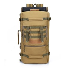 TacTical bag khaki online shopping - 2018 Hot Top luxury handbag Quality L New Military Tactical Backpack Camping Bags Mountaineering bag Men s Hiking Rucksack Travel Backpack