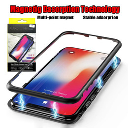 Metal paper case online shopping - New Cases Metal Magnetic Phone Case for iPhone X Xs Max Xr Plus Flip Cover Phone Cases with Original Paper Box