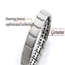 Горячие продажи энергии Магнитный браслет здоровья для женщин мужчин стиль здоровья покрытием серебро из нержавеющей стали браслеты подарки ювелирные изделия оптом