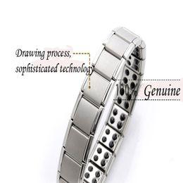 Heißer Verkauf Energy Magnetic Health Armband für Frauen Männer Gesundheit Stil versilbert Edelstahl Armbänder Geschenke Modeschmuck Großhandel