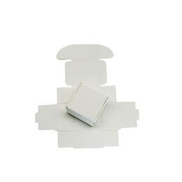 Kraft Jewelry Gift Boxes UK - 4*4*2.5cm Mini Gift Craft Storage Paper Box 50pcs lot 1.6''x1.6''x1'' White Kraft Paper Packing Box Wedding Jewelry Art Package Carton Boxes