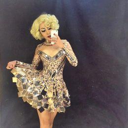 efd5e825aa2 costume de beyonc fait main roupa feminina robe de scène en strass pour  chanteurs robe de soirée discothèque miroir dressesroupa feminina