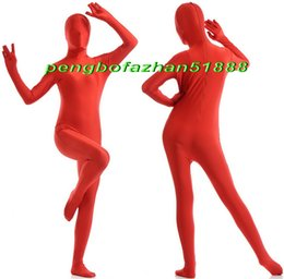 xl full body suits Canada - Unisex Full Body Suit Costumes Outfit New Red Lycra Spandex Suit Catsuit Costumes Unisex Sexy Full Bodysuit Costumes Outfit P401