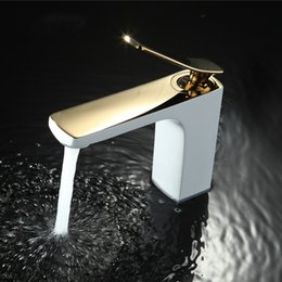 $enCountryForm.capitalKeyWord NZ - Bathroom Faucet Chrome  Gold White Painting Faucet Basin Sink Mixer Tap Brass Made Deck Mounted Basin Faucet