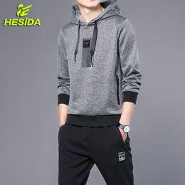 Spring Tracking Canada - Men's Sports Suits Set Hoodie Hooded Sweatshirt Tracksuit Spring Pullover Sportswear Track Pants Sweatpants Sport Wear Men