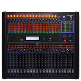 Высочайшее качество 16-канальный цифровой аудиомикшер. 19-дюймовые микшеры для монтажа в стойку. Профессиональная микшерная консоль.
