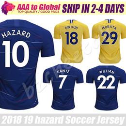 Chelsea jerseys de fútbol 2019 Peligro de calidad superior Giroud Morata  Kante David Luiz Fabregas jersey camisetas de fútbol uniformes envío gratis 9c538a4697a55