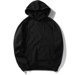 Wholesale hip hop clothes usa online – oversize USA SIZE Fashion Color Hooides Men s Thick Clothes Winter Sweatshirts Men Hip Hop Streetwear Solid Fleece Hoody Man Clothing