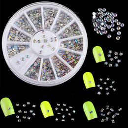 $enCountryForm.capitalKeyWord Australia - DIY 3D Fashion Nail Art Tips Decor 6 Pattern Metallic Glitter Rhinestone 1 Wheel
