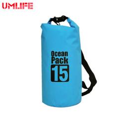 d062951c7fd3 Ocean Pack 15L Swimming Waterproof Bags Storage Dry Sack Bag For Canoe  Kayak Rafting Outdoor Sport Bags Travel Kit Equipment