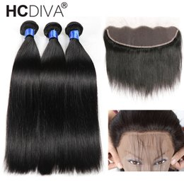 Bundle hair part closure online shopping - 8A Mink Brazilian Straight Hair x4 Lace Frontal Closure with Bundles Human Hair with Ear to Ear Lace Frontal Closure Free Part Pre Plucked