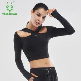 Athletics Shirt NZ - Women Yoga Top new design running Shirts Gym Fitness long Sleeve Athletic T Shirt