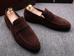 $enCountryForm.capitalKeyWord Australia - Men Casual Suede Moccasins Men Loafers High Quality Genuine Leather Shoes Men Flats Gommino Driving Shoes size:37-44