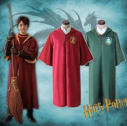 Robe xs online shopping - harry potter Cape Quidditch Robe Cloak Gryffindor Slytherin Quidditch Robe Cloak cosplay costume Magic Robe KKA6151