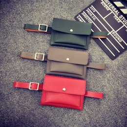 $enCountryForm.capitalKeyWord NZ - 2018 Casual Easy Style Women Waist Bags Small Flap Belt Bag Black Red Gray Chest Fanny Pack Classic Trendy Leather Envelope Bag