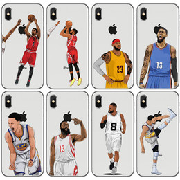 brand x basketball NZ - Cool Customize Soft TPU basketball player design phone case for iphone x xr xs max 7 8plus 6s note9 s9 cartoon comic cover