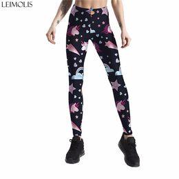 $enCountryForm.capitalKeyWord UK - Leimolis 3D printed galaxy stars unicorn harajuku gothic sexy plus size high waist push up fitness workout leggings women pants