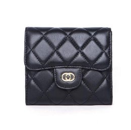 $enCountryForm.capitalKeyWord NZ - NEW 2018 Women's Fashion Card Holders Genuine Leather Lambskin Quilted Flap Mini Wallets Female Purses Card Holder Coin Pouch wiht box