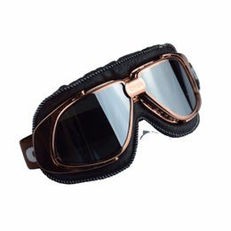 c7f2dec3c963a2 MJMOTO Motorcycle Glasses Vintage Harley Style Motorcycle Helmet Goggles  Scooter Glasses Aviator Pilot Cruiser Steampunk 5Colors