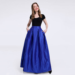 Chinese  New Bridesmaids Skirts with Pockets A-line Taffeta Prom Dresses Evening Wear Wedding Cheap Bridesmaids Dresses TU0010C manufacturers