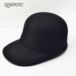$enCountryForm.capitalKeyWord Australia - QDKPOTC 2018 Autumn Winter Wool Hat Wool Felt Hats Girls Black Equestrian Knight Hats Casual Baseball Cap For Womens