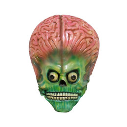 $enCountryForm.capitalKeyWord Australia - Scary Aliens Pattern Halloween Latex Mask Cosplay Props Party Decor Supply for Holiday Festive Mask Supplies Party Decoration