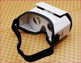 Discount virtual glasses for iphone Light Castle Google Cardboard Style Virtual Reality VR BOX II Glasses For 3.5 - 6.0 Inch Smartphone Glass For iPhone For
