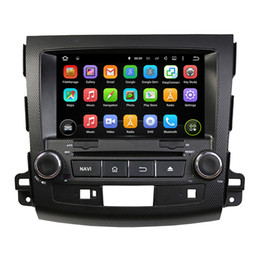 mp3 player built 4gb Canada - Car DVD player for MITSUBISHI Outlander 2006-2012 8Inch 8-core 4GB RAM Andriod 8.0 with GPS,Steering Wheel Control,Bluetooth, Radio