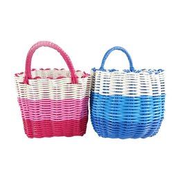 $enCountryForm.capitalKeyWord UK - Colorful PP Woven Foldable plastic storage ,High quanlity Plastic PP small rectangular woven storage basket,used for sundries,food or toy