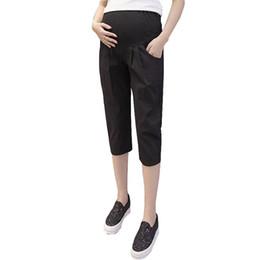 2c4f97cac Pantalones casuales Pantalones cortos de maternidad para mujeres embarazadas  Ropa Ropa de embarazo Lino Algodón Siete