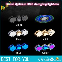 $enCountryForm.capitalKeyWord NZ - 2017 new USB charging lighters No gas cigar lighter Finger toy Gyro flash Tri-Spinner Electronic Cigarette Hand Fidget Spinner