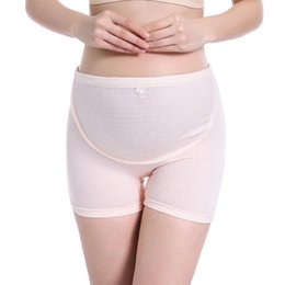 China Pregnancy Leggings 100% Cotton Pumping Belly Boxer Briefs High Waist Large Size Adjustable Pregnant Women Clothes for Women suppliers