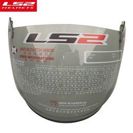 $enCountryForm.capitalKeyWord Australia - Genuine LS2 full shield motorcycle helmet lens replacement externa sun visor glass OF521 vintage moto helmet open face