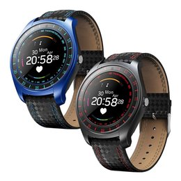 $enCountryForm.capitalKeyWord NZ - V10 HR Bluetooth Smart Watch Heart Rate Fitness Tracker Monitor Multifunction Smartwatch Support SIM TF Card With HD Camera For iOS Android