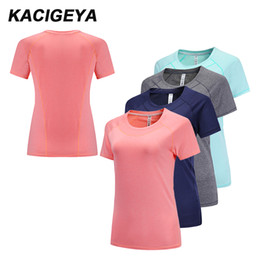 eef5c03111b Running T-Shirt Yoga women 2018 Short Sleeve Sportshirts Gym Workout  Athletics Academia Jersey Football Basketball Tennis Shirts