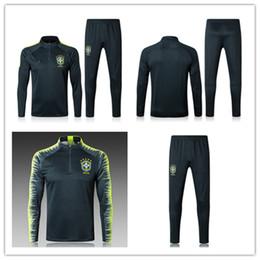 Casa Esportes ao ar livre Atlético Outdoor Vestuário Soccer Wear Conjuntos de futebol Detalhe do Produto 2018 KIDS Brasil ternos de treino de treino Un