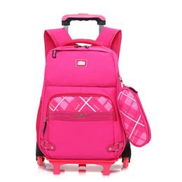 33a047e8b2 2pcs sets Kids Trolley School bags Children Removable Rolling Backpack 2  Wheels Large capacity Schoolbag 3--6 graders Mochila