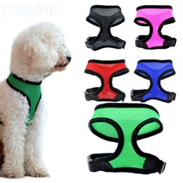 Discount led dog collar chest - Free Shipping Adjustable Breathable Vest Collars Chain Puppy Cat Pet dog Harness Leash Lead Set Dog Chest Straps Accesso