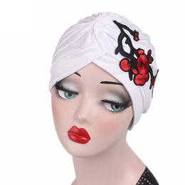 d110dec2ff2dd Chemo Hats Scarves UK - Women Embroidery Cancer Chemo Hat Beanie Scarf  Turban Head Wrap Cap