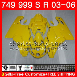 Chinese  Light yellow Body For DUCATI 749-999 749S 999S 749 999 03 04 05 06 Bodywork 105HM.1 749 S 999 R 749R 999R 2003 2004 2005 2006 Fairing kit manufacturers