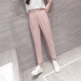 $enCountryForm.capitalKeyWord NZ - High Waist Pink Black Harem Pants Women 2018 Summer Autumn Casual Plus Size 3xl Slim Ol Work Chiffon Trousers Pantalon Femme S18101605