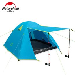 $enCountryForm.capitalKeyWord NZ - Naturehike Tourist Tent 4 People Outdoor Camping Tents For Rest Family Beach Hiking Fishing Double Layer Waterproof Tent