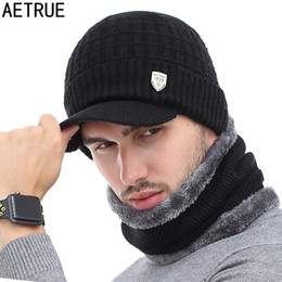 Beanies For Winter Australia - AETRUE Winter Hat Skullies Beanies Hats Winter Beanies For Men Women Wool Scarf Caps Balaclava Mask Gorras Bonnet Knitted Hat S1020