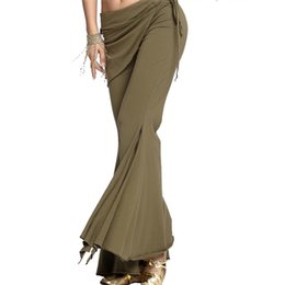 Discount woman costume boots - 2018 Hot Sexy Belly Dance Costume Tribal Pants Women Bellydance Clothes Dance Boot Cut Trousers 5 Colour