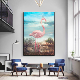 Discount modern abstract flower paintings - 5D New Full Diamond Painting Wealthy Flamingo Flower Cross Stitch Modern Bedside Bedroom Painting Diy Diamond Embroidery