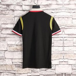 Breathable Fabric Sequins Canada - 2018 summer new designer luxury brand clothing men fabric striped poloshirt polo embroidery 3D bee t-shirt casual women tshirt tee shirt