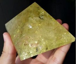 Crystal Lighting China Australia - Natural Citrine Quartz Crystal Pyramid Healing China 60mm