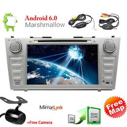 Camry touCh sCreen player online shopping - Android Marshmallow Car DVD Player for TOYOTA CAMRY Double Din Car Stereo GPS Navigation Touch Screen Car Radio Headunit Bluetooth