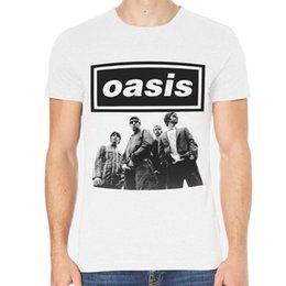 Опт Oasis Rock Футболка мужская белая или серая 1-B / C-085