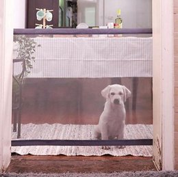 safety gates 2018 - New Dog Gate The Ingenious Mesh Magic Pet Gate For Dogs Safe Guard and Install Pet Dog Safety Enclosure Dog Fences cheap